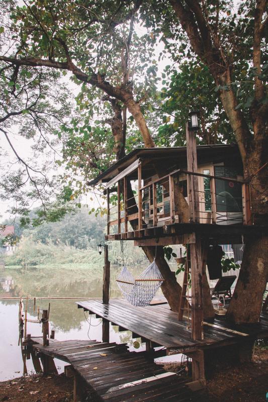 Weltreise Baumhaus Ayutthaya in Thailand