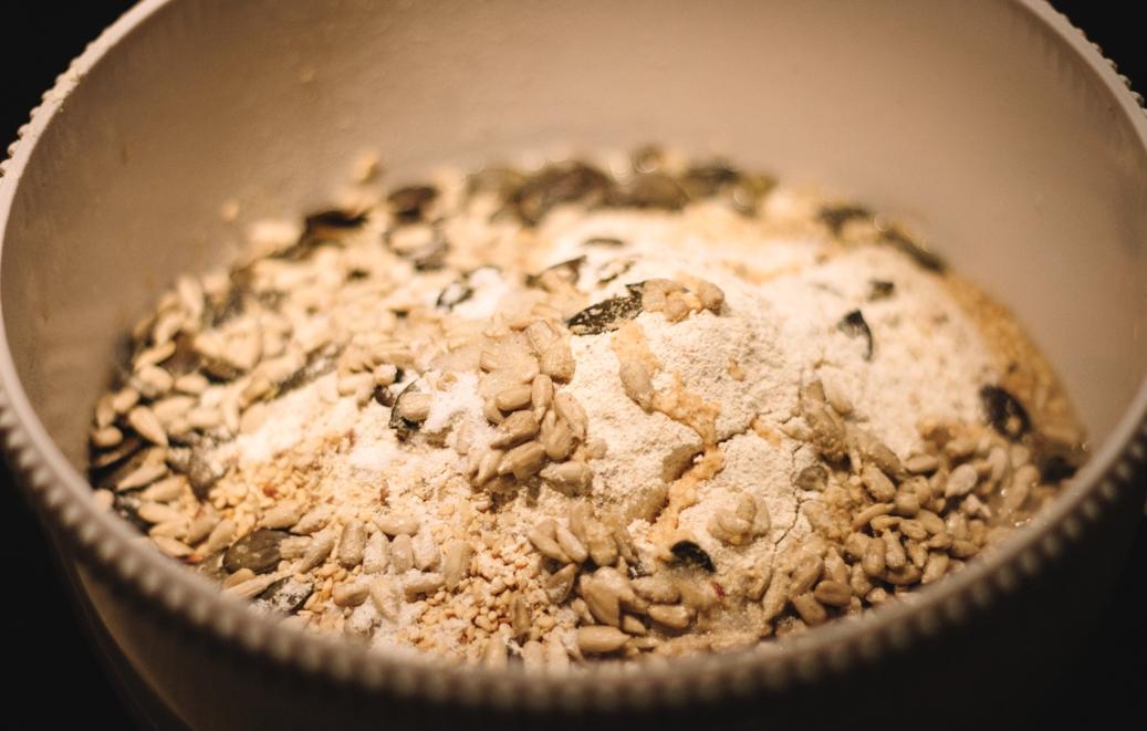 Zutaten für vegane Brötchen ohne Weizen
