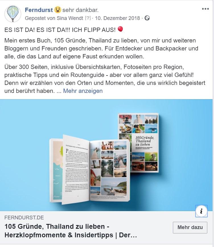 105 Gründe Thailand zu lieben - der Post zur Veröffentlichung meines Buches