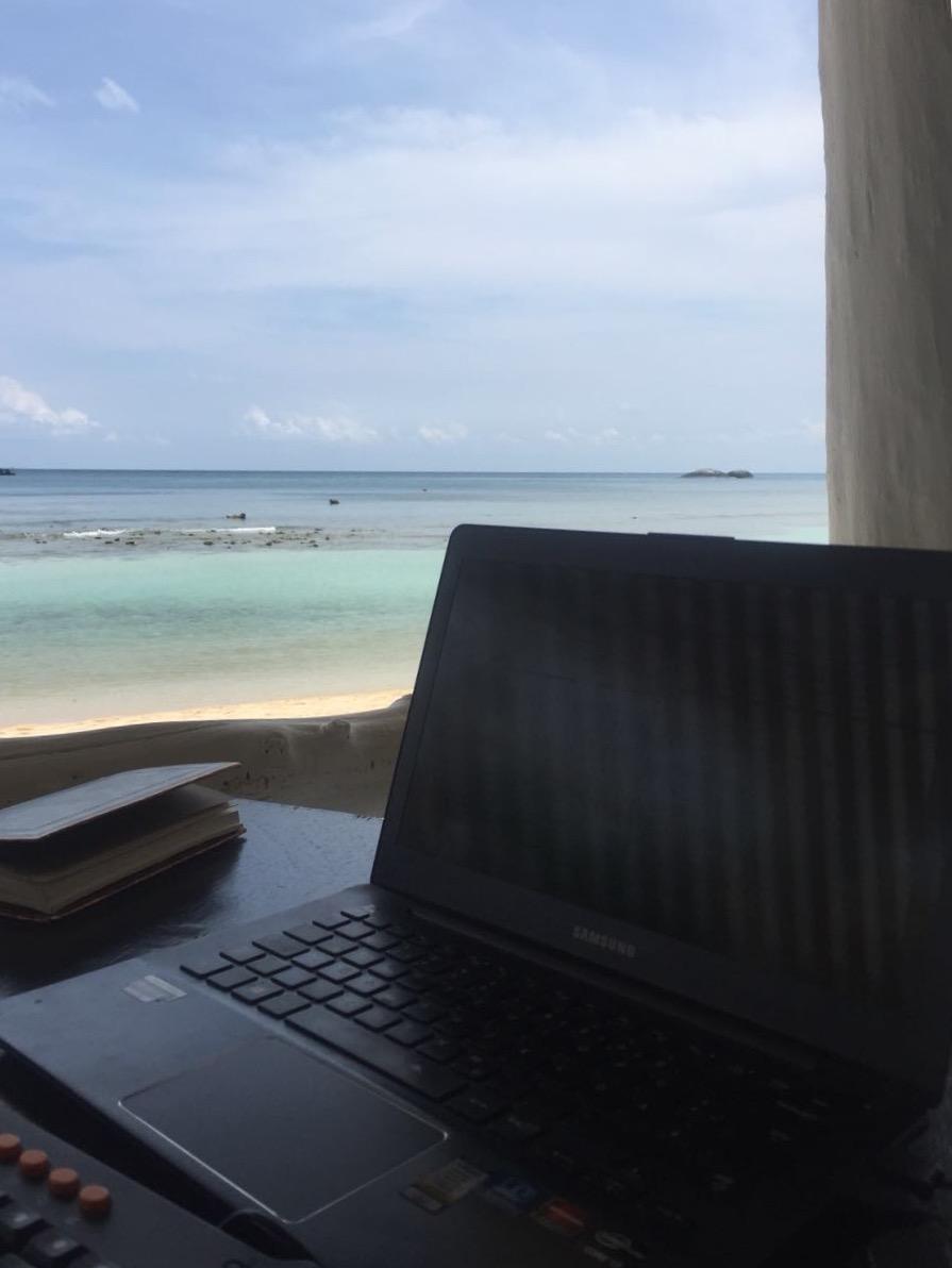 Mein Thailand Buch - auf Koh Phangan entstand das Vorwort im Selbstverlag